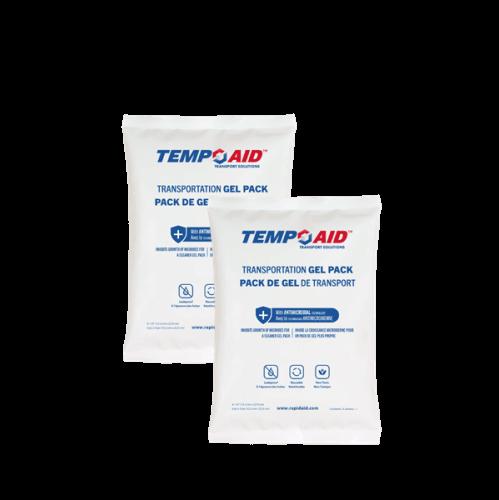 Antimicrobial gel packs stacked